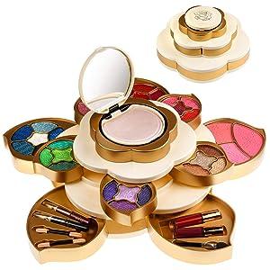 CoralBeau Luxurious Makeup Set for Women - Flower Shaped, Makeup Kit for Teen Girls - Adult Flower Makeup Kit