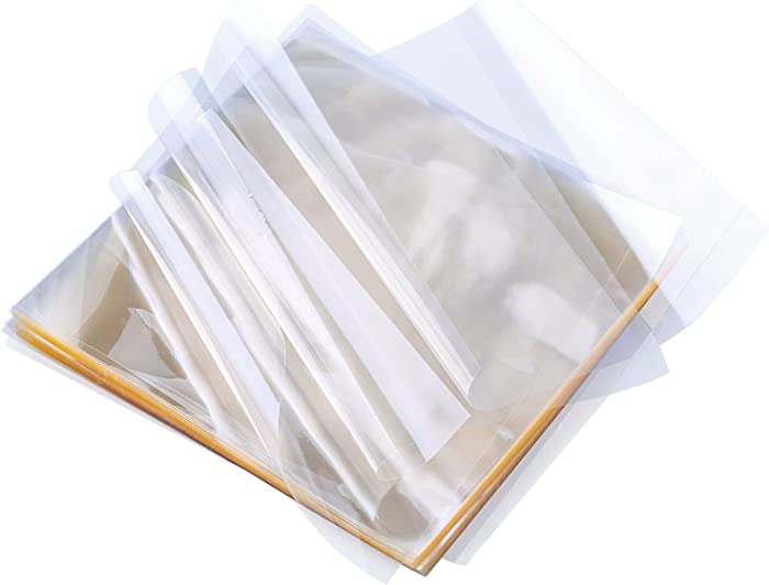 Resinta 300 Sheets Caramel Candy Wrappers Clear Non-stick Candy Cellophane Wrappers for Soft Cadies and Caramels, 5 Inch by 5 Inch (300)