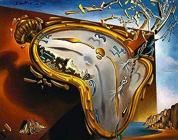 Black Creations Reloj de fusión Salvador Dali (Melting Watch) Póster Lienzo Cuadro Impresión artística A0 A1 A2 A3 A4 (A4 Lienzo (20/30cm)): Amazon.es: ...