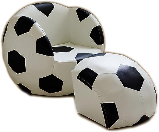 Silla de pelota de fútbol para niños con otomana: Amazon.es: Hogar