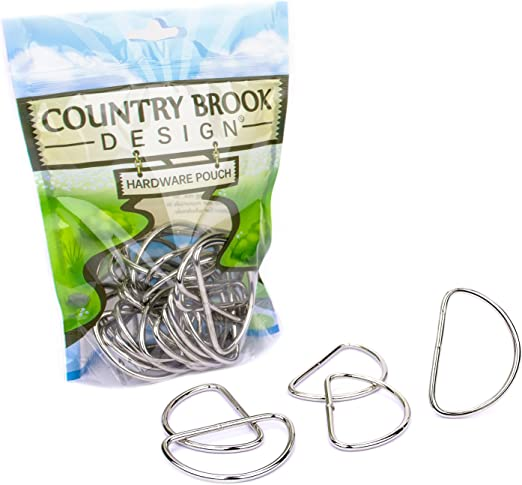 10-Country Brook Design® 3//4 Inch Welded D-Rings