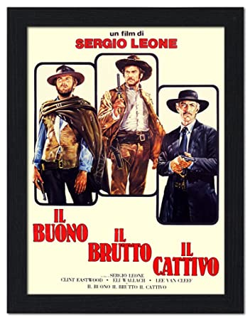 Image result for the good the bad and the ugly poster italian amazon