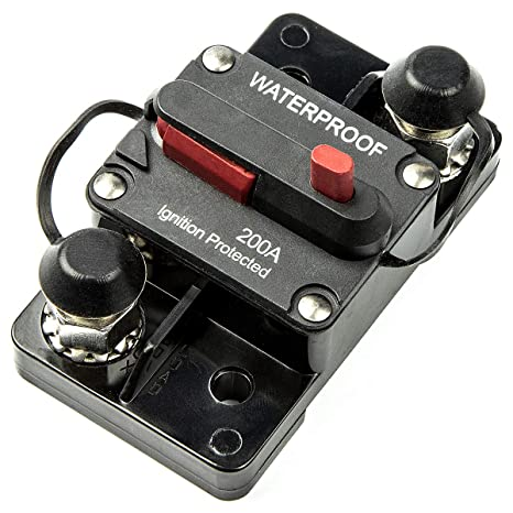 200Amp Auto Marine Waterproof Electrical Circuit Breaker Surface Mount Circuit Breakers & Disconnectors Electrical Equipment & Supplies