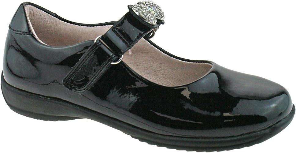 Mandy Black Patent School Shoes E Width