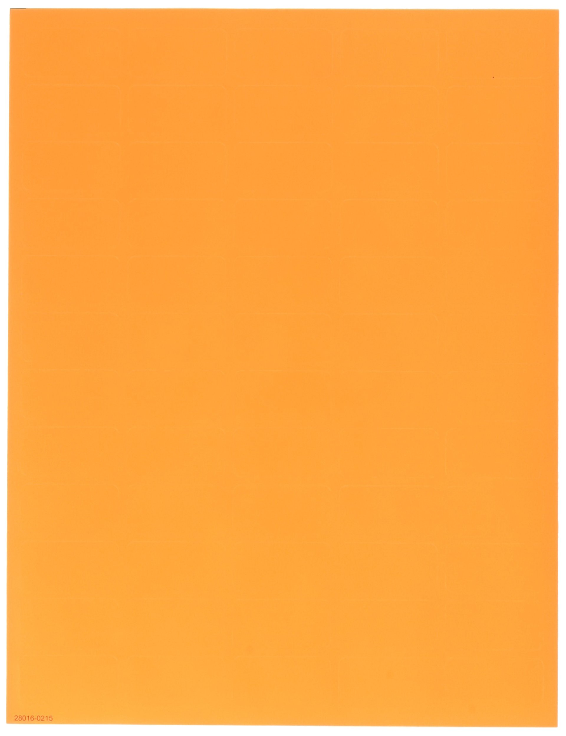 Diversified Biotech Tough-Tags TTGP-1050-O Laser Label, 1.50'' Length x 0.75'' Width, Orange (Pack of 1500)