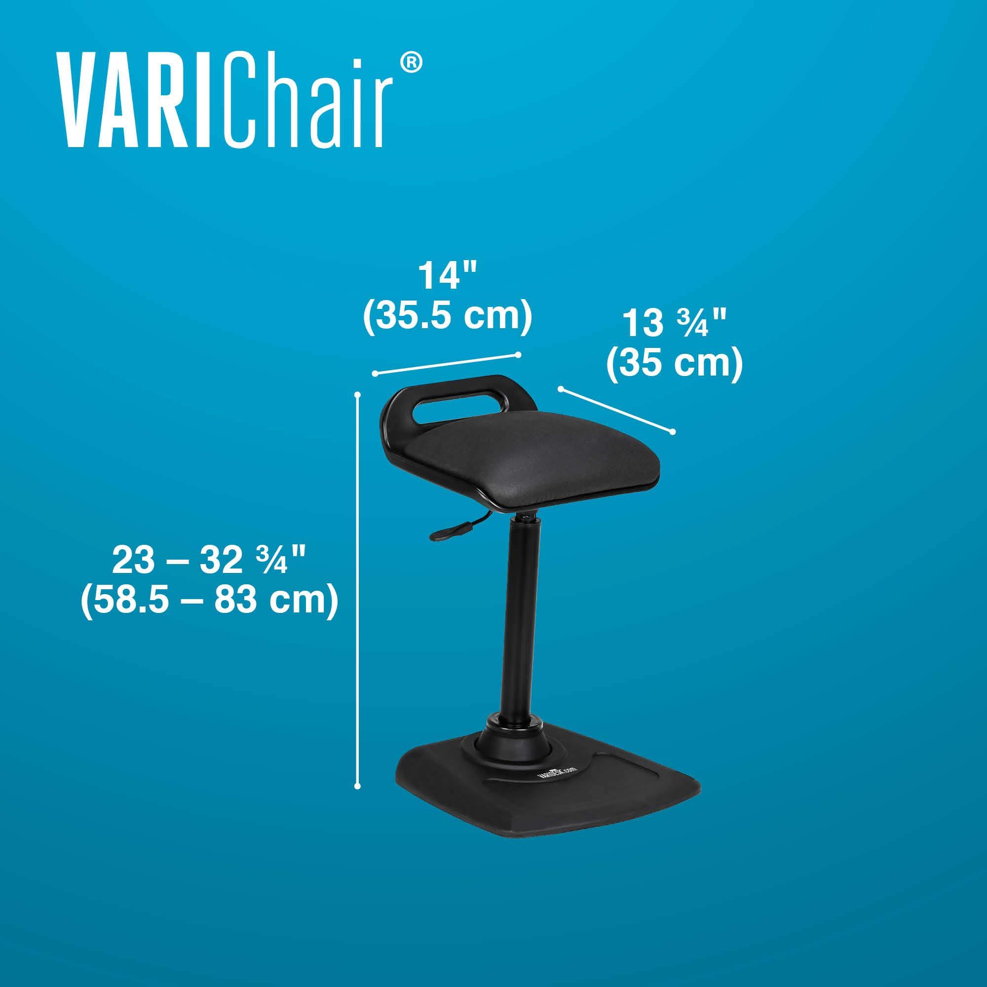 VARIDESK - Adjustable Standing Desk Chair - VARIChair - Black by VARIDESK