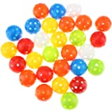 KOFULL Colored Golf Practice Ball, 40mm Hollow Sports Golf Training Balls Plastic Airflow Good for Your Pets- 50 / Pack
