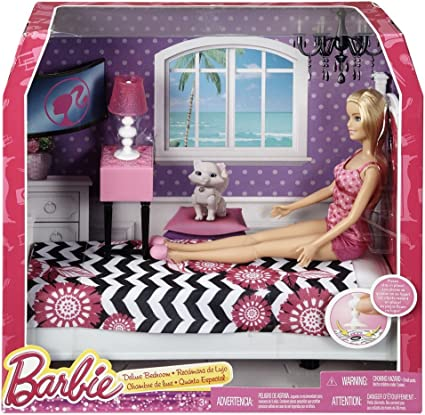 Amazon Com Barbie Doll And Bedroom Furniture Set Toys Games