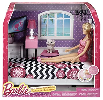 Buy Barbie Doll And Bedroom Furniture Set Multi Color Online At Low Prices In India Amazon In