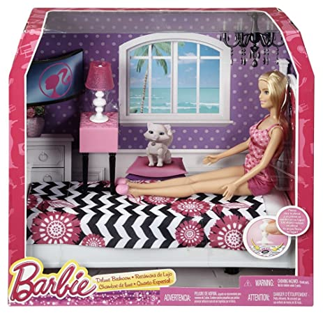 Amazon.com: Barbie Doll and Bedroom Furniture Set: Toys & Games