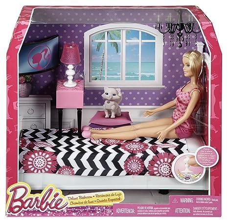 Barbie CFB60 - Bambola Barbie ei Suoi Arredamenti, Camera da Letto