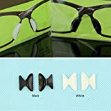5 Pairs Sunglass Glasses Spectacles Anti-Slip Silicone Stick on Nose Pad (Black)