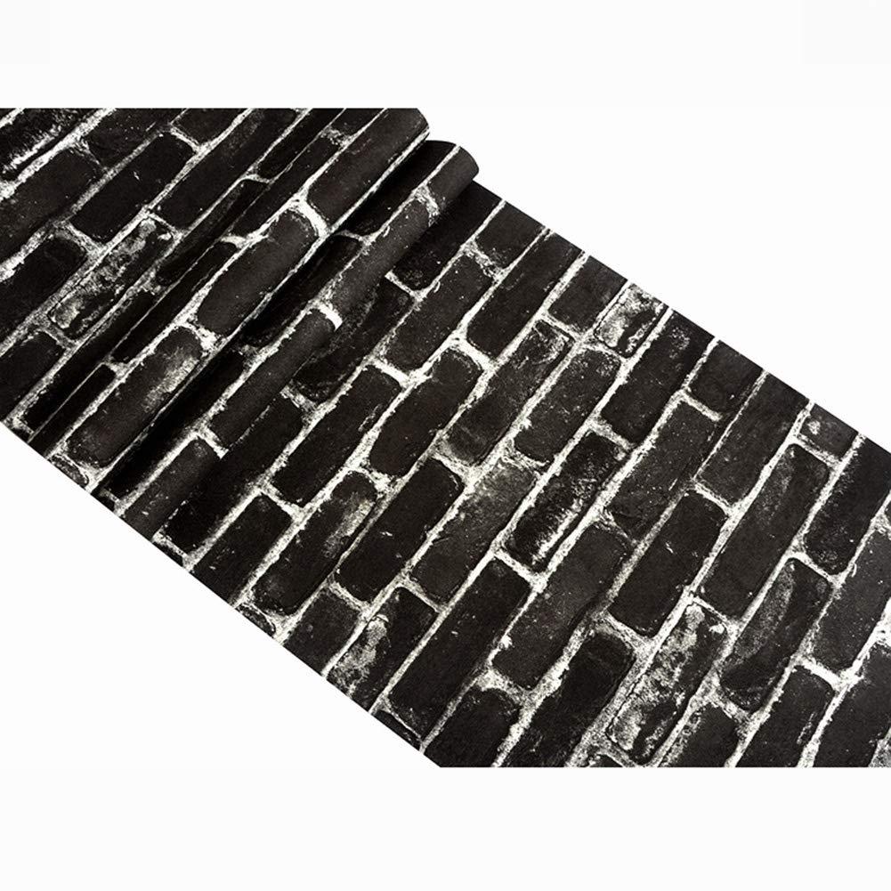 Fondo De Pantalla Negro Ladrillo Papel Pintado Antiguo Ladrillo Ladrillo Retro De Ladrillo Fondo De Pantalla Negro 33 Pies X 21 Pulgadas Size : 1 volumes