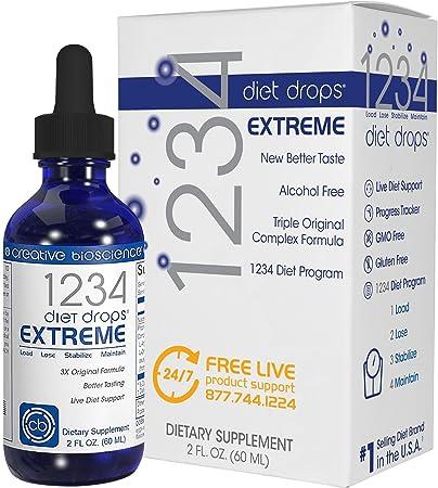Amazon Creative Bioscience 1234 Diet Drops Extreme Health