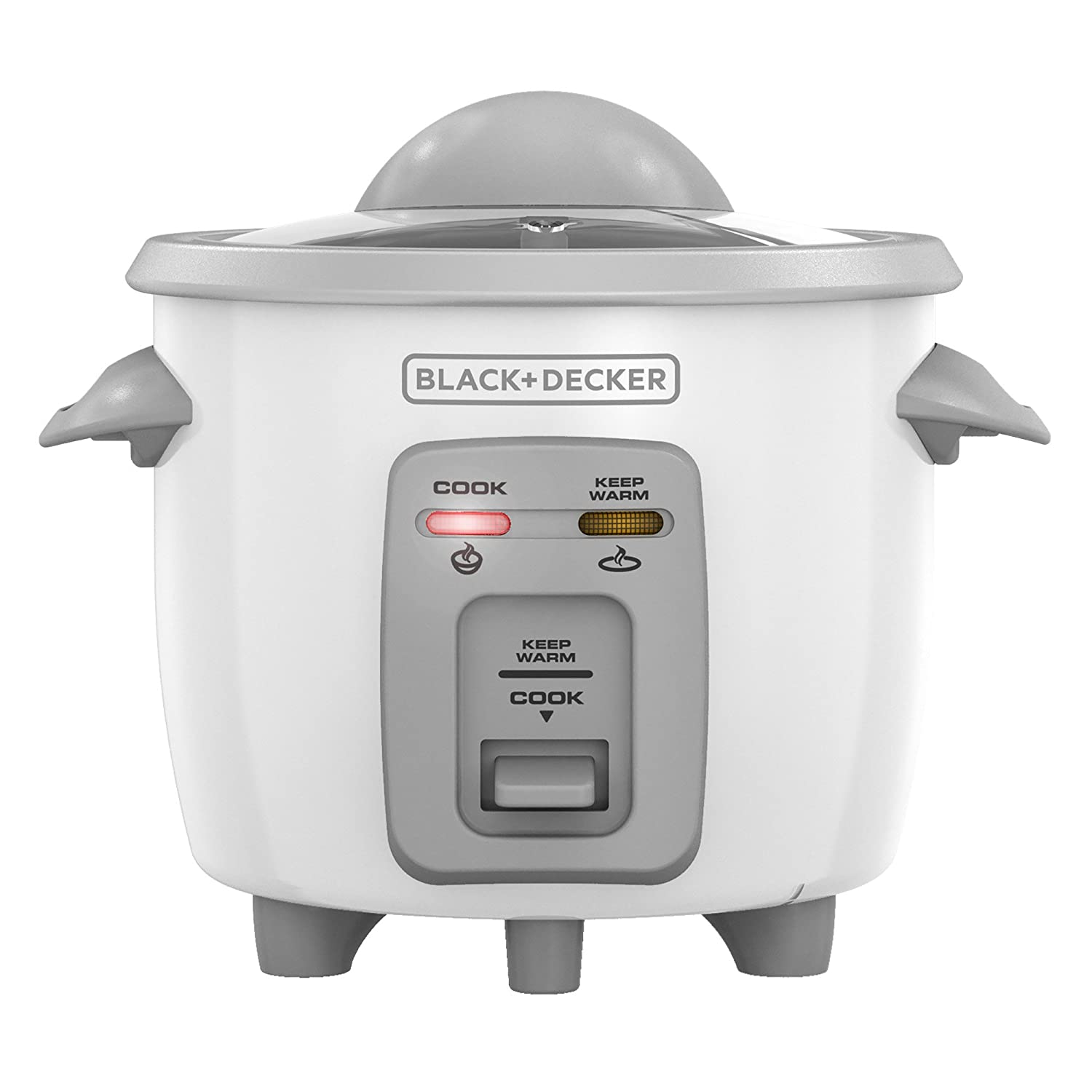 Amazon.com: BLACK+DECKER RC3303 1.5-Cup Dry/3-Cup Cooked Compact Rice Cooker,  White: Kitchen & Dining
