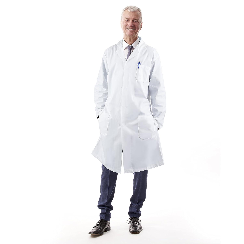 Medvat Manteau de laboratoire confortable et respirant pour hommes et femmes Petit Blanc