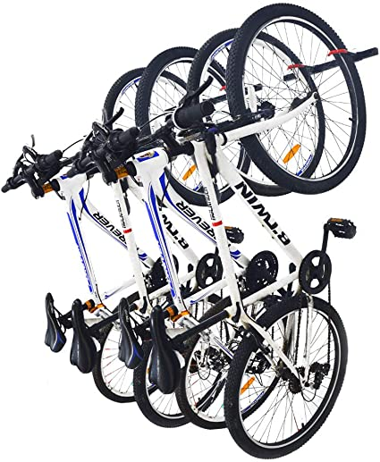 Mobile Hanging Bike Rack Storage Stand Holds 6 Bikes Garage Wall Holder Bicycle