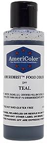 AmeriColor AmeriMist Teal Airbrush Food Color, 4.5 oz