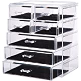 Vencer Big Cosmetics Makeup and Jewelry Storage Case Display (3 Large and 4 Small Drawers) VMO-009