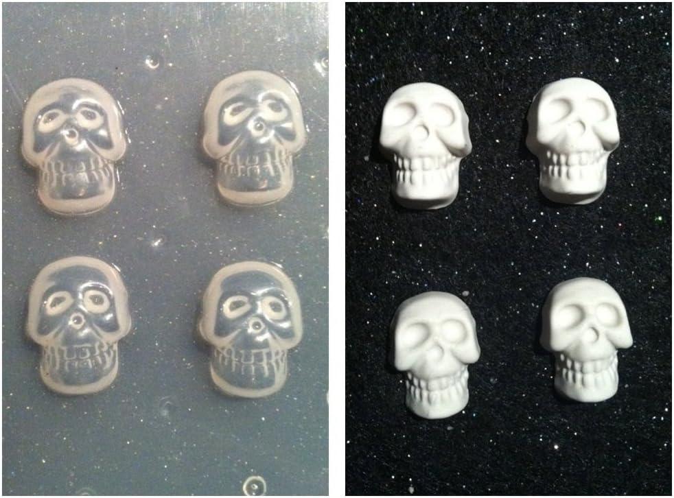 Amazon Com Flexible Resin Mold Set Of 4 Small Skulls