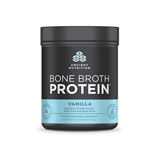 Ancient Nutrition Bone Broth Protein Powder, 20g Protein Per Serving, Paleo, Low Carb Superfood, Vanilla, 20 Servings best paleo powder