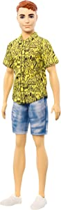 Barbie Ken Fashionistas Doll with Red Hair and Graphic Yellow Shirt