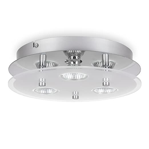 romke round ceiling light 3 way led ceiling light gu10 fitting