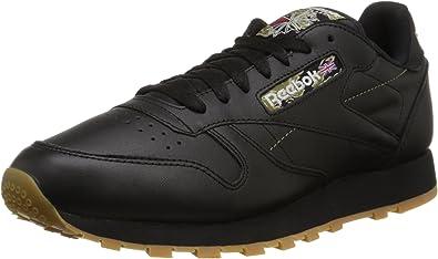 reebok men's classic leather black