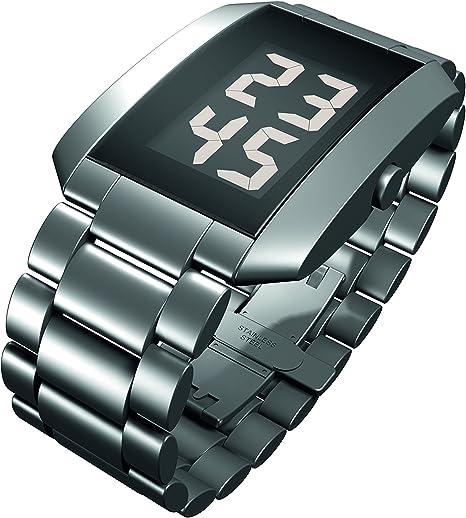 Rosendahl Watch III - Reloj digital de caballero de cuarzo con correa de acero inoxidable plateada - sumergible a 50 metros: Rosendahl: Amazon.es: Relojes