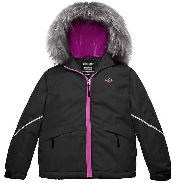 Amazon.com: Wantdo - Chaqueta de esquí impermeable para niña ...
