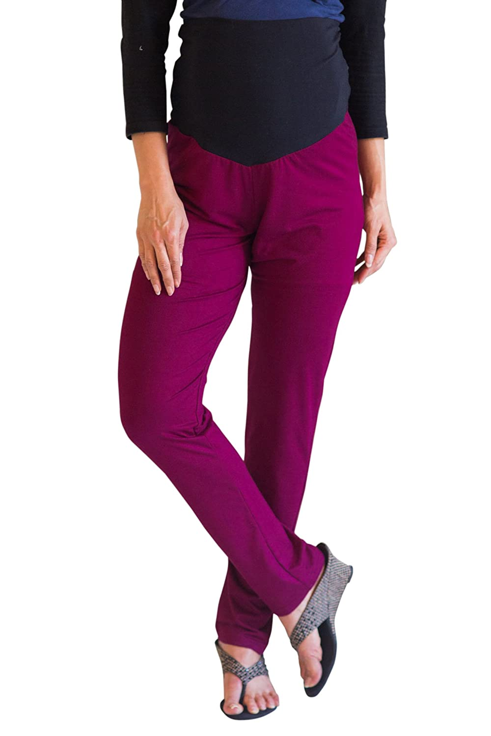 faf64d00e8765 Momzjoy Burgundy Over Bump Maternity Leggings: Amazon.in: Clothing &  Accessories
