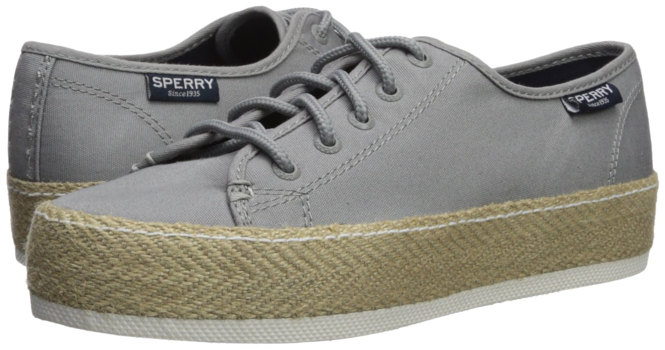 Sperry Top-Sider Women's Sky Sail Jute Wrap Sneaker B072KJ249P 8.5 B(M) US|Grey