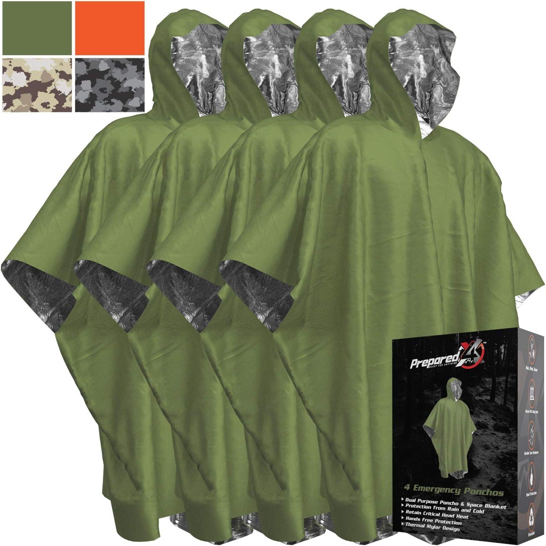 Multi-functional Foil Poncho Raincoat Waterproof Outdoor Survive Rescue Blanket