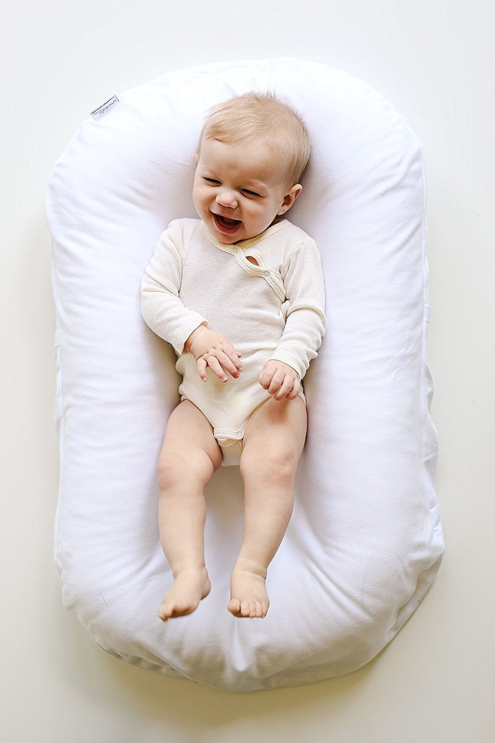 Virgin Fiberfill Organic Cotton Linen Collection Patented Sensory Lounger for Baby Coast Snuggle Me Organic