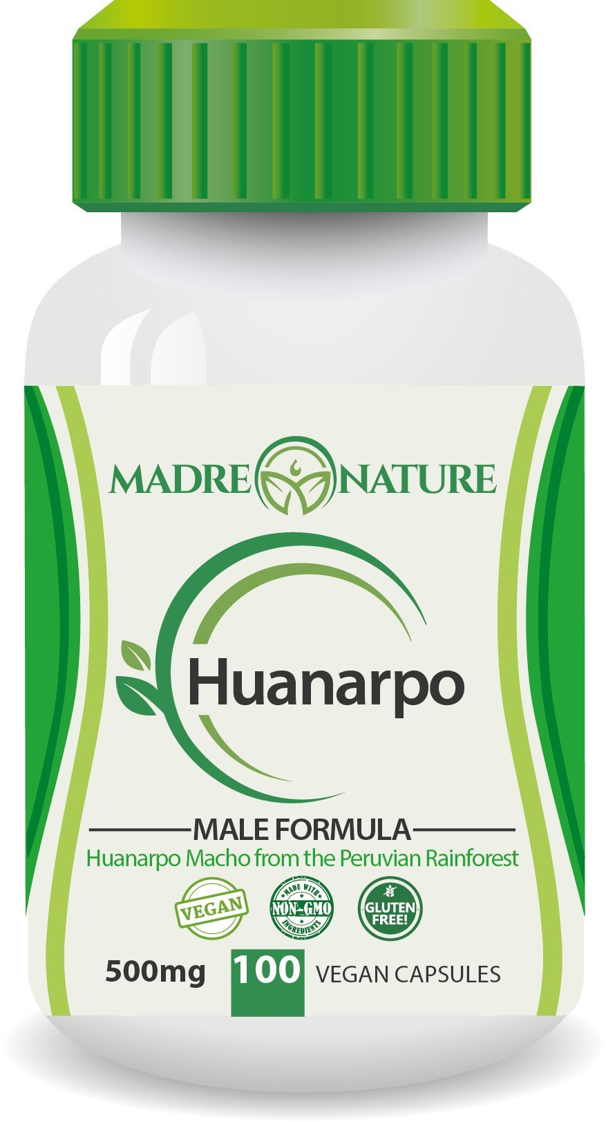 Madre Nature Wildcrafted Huanarpo Powder Capsules for Men: Male Enhancing Supplement Supports: Antioxidant, Anti-Inflammatory (1-Pack)