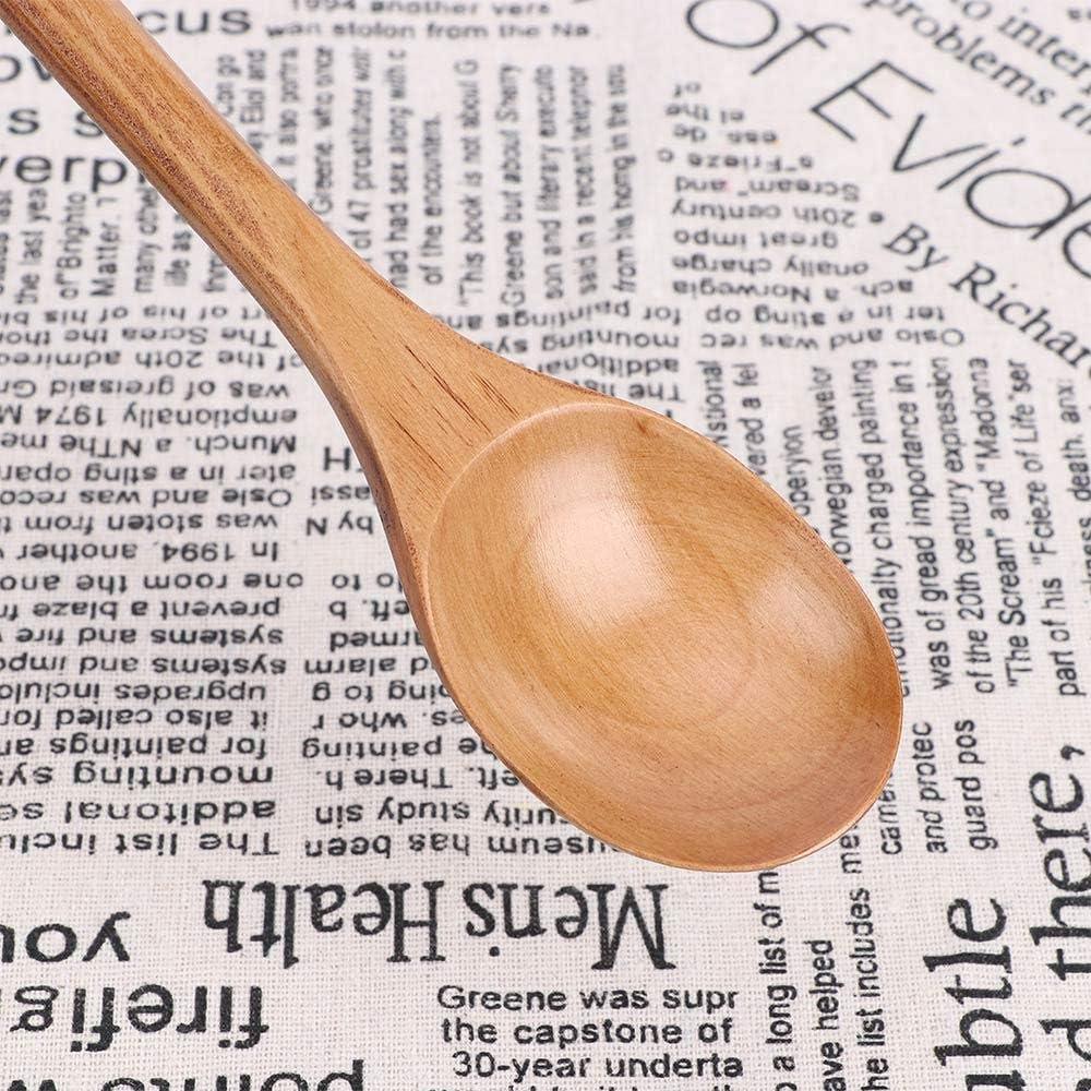 Cucharas de madera Cuchara para cocinar Juego de cocina pequeño Mini sopa Patrón de té artesanal Casa de hielo Servir Miel Trofeo personalizado Crema Regalos únicos: Amazon.es: Hogar