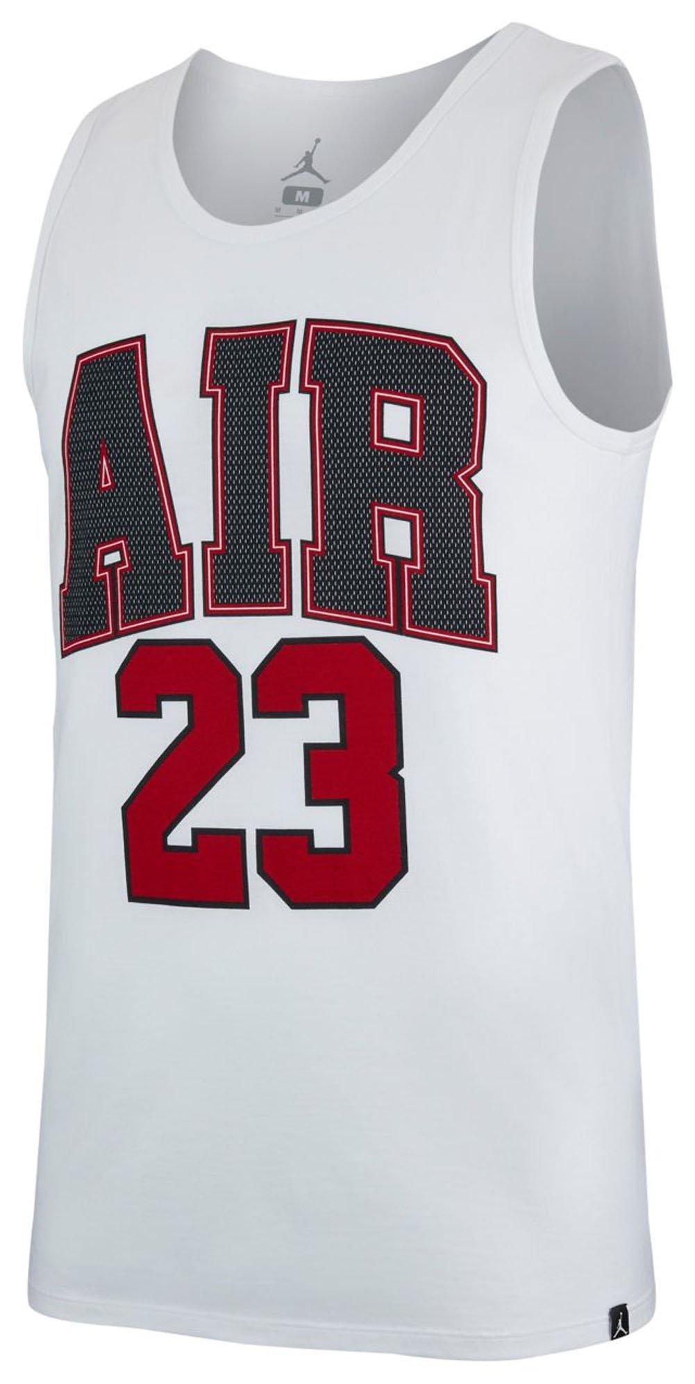 Jordan M JSW TANK AIR 23 WHITE SIZE L