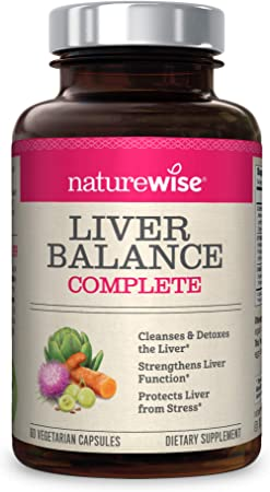 NatureWise Liver Detox Cleanse Supplement (30 Servings) Triple Repair Formula with Milk Thistle, Turmeric, Reishi & Kudzu to Encourage Toxin Removal & Support Normal Function (60 Vegetarian Capsules)