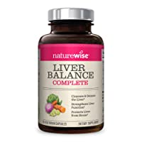 NatureWise Liver Cleanse Premium Detox | Advanced Triple Formula Liver Detoxifier...