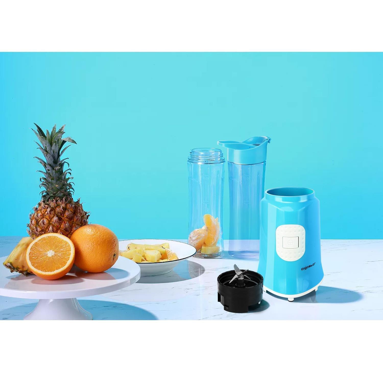 Aigostar Sky 30IWX - Batidora de vaso portátil para smoothies, batidos y picadora de frutas. 350W, Incluye 2 vasos portátiles de Tritan de 600ml de ...