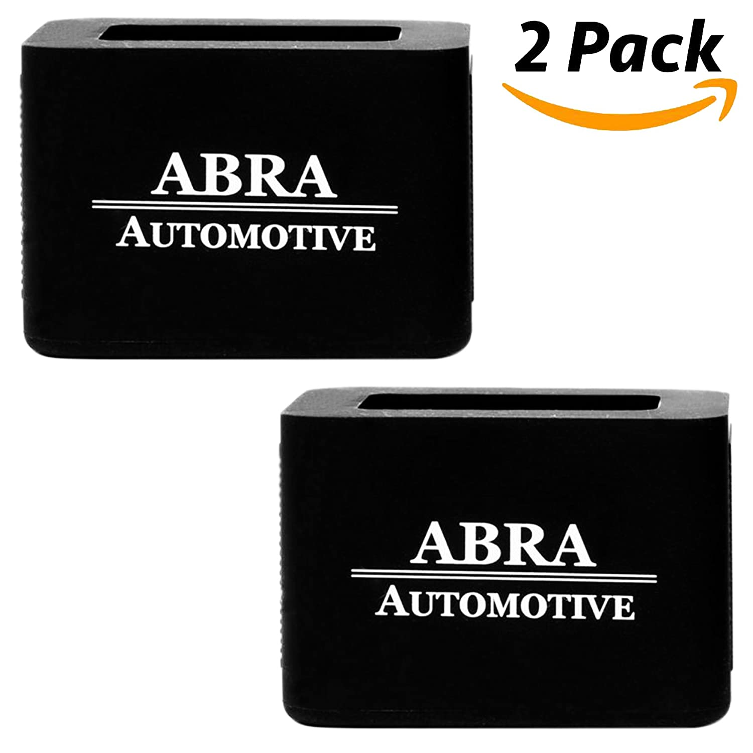 2 Pack Car Seat Belt Buckle Holder by Abra Automotive: New 2018 Model, Durable Silicone, Holds Seat Belt Buckle In Upright Position For Easier Buckling For Kids, Adults, And Elderly, Easy Installation