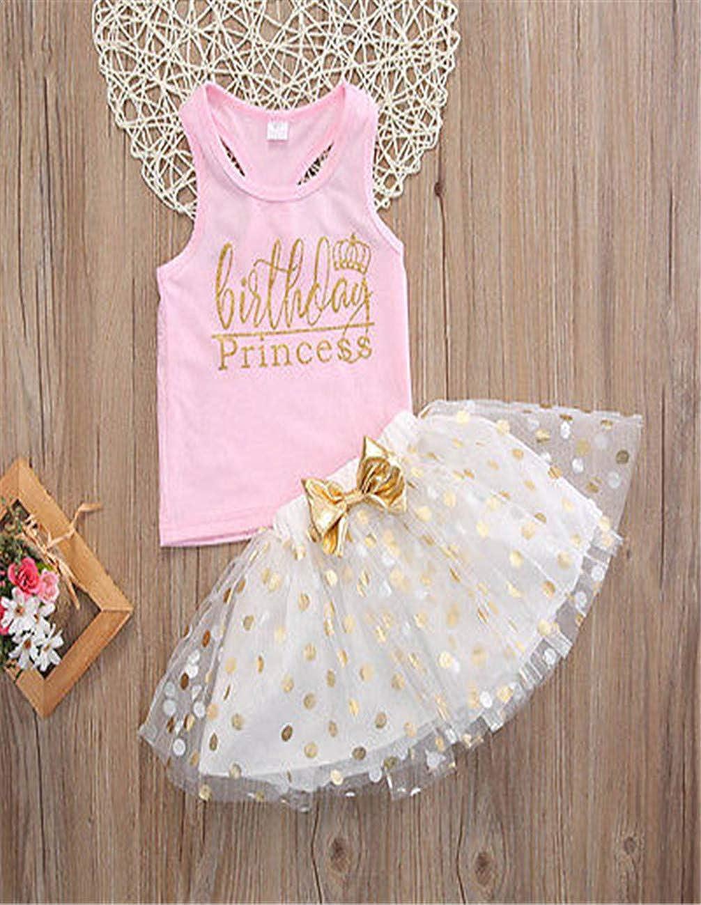 Ropa Bebe Ni/ñA Verano Baby Girl Moda Princesa Linda Camisa Recortada De Encaje De Tul Vestido De Punto 2 Piezas Traje De Ni/ñA Chaleco Bronceado Punto Falda