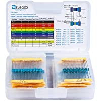 1/% 2W Watt 1/% 30 valeurs ARCELI Kit Assorti de r/ésistances de Film Carbone 300PCS 1