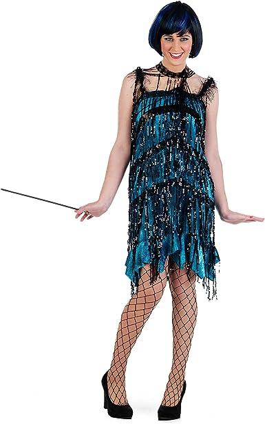 LVOW Charleston Vestido de mujer de los a/ños 20 con flecos