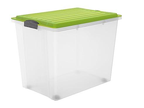 Rollbox kunststoff  Rotho 1164905519 Roll Box Compact mit Deckel und 4 stabilen Rollen ...
