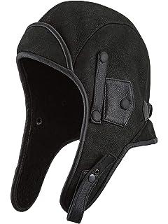 70869ec14 Sterkowski Genuine Leather Aviator Helmet Trapper Cap: Amazon.co.uk ...