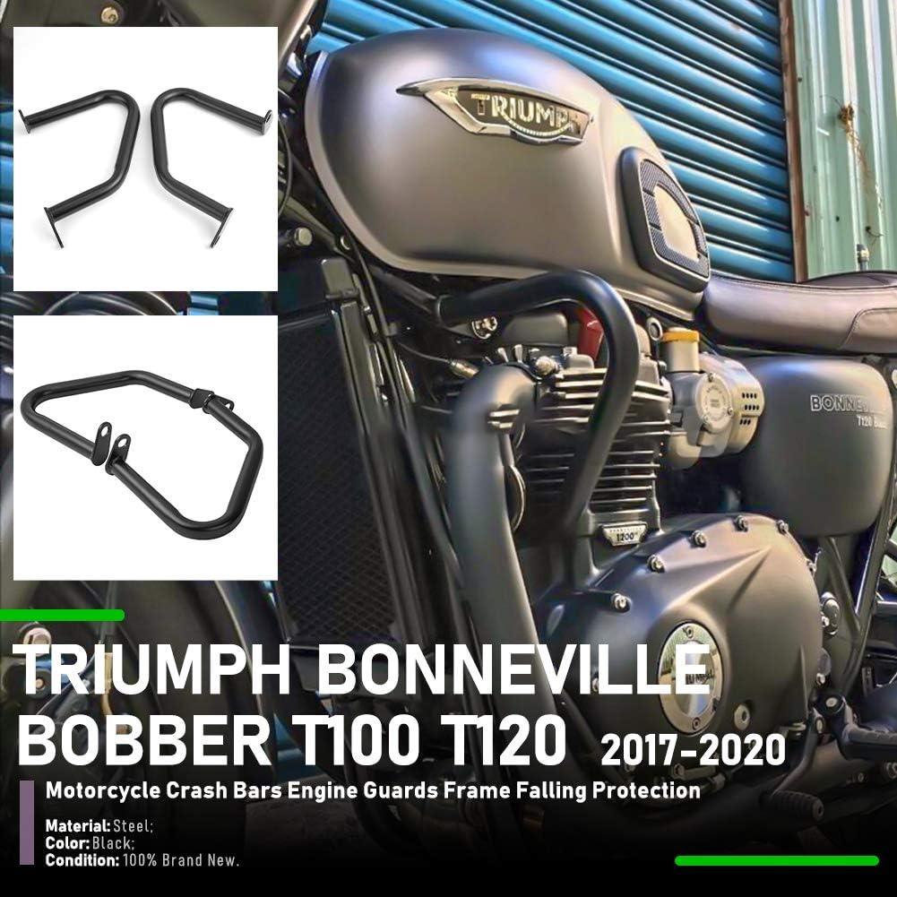 Lorababer Paracilindri Paramotore Sinistro E Destro in Acciaio Cromato per Triumph Bonneville Bobber Bonneville T100 T120 Street Twin Cup Thruxton 1200 Thruxton R 2016 2017 2018 2019 2020 Cromo