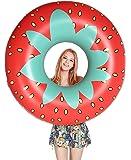 Jasonwell浮き輪夏の日にプールのパーティーで成人と子供に合うの浮き輪大人用子供用浮き輪飾りおもちゃ …(トマト)