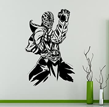 Mortal Kombat Wall Vinyl Decal Sub Zero Sticker Fighting Games Home Interior Living Room Removable