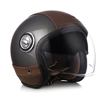 SOXON SP-888 URBAN – Casco Jet estilo retro,